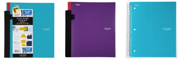5 Star Multi-Subject Spiral Notebooks