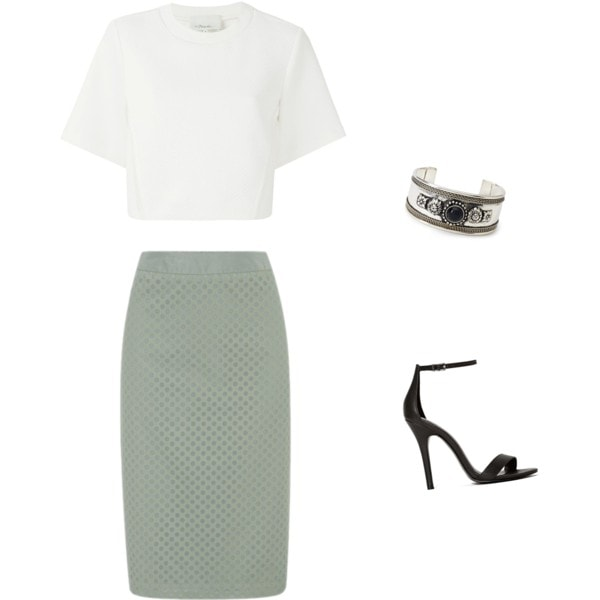 crop top and pencil skirt