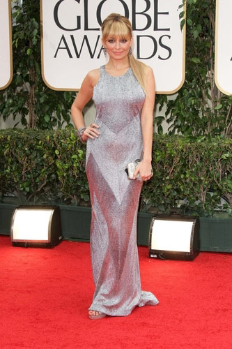 Nicole Richie in Julien Macdonald at the 2012 Golden Globe Awards