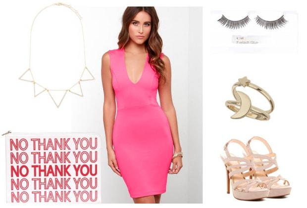 Nicki Minaj pink dress outfit