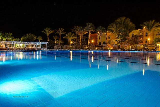 swimming at night pools at night