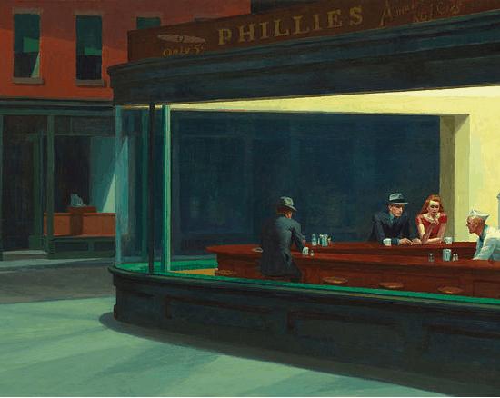 """Edward Hopper's """"Nighthawks"""" (1942)"""