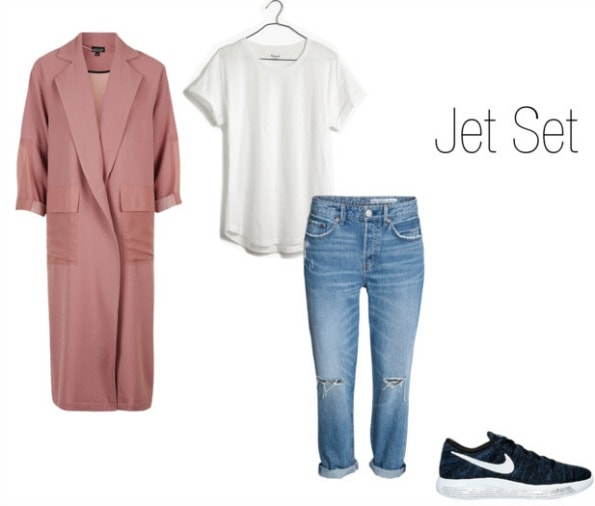 Nikes Styled with Duster Coat