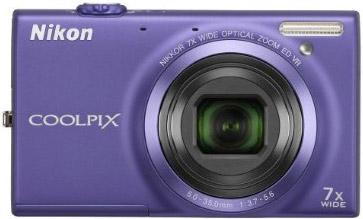 Nikon Coolpix blue camera