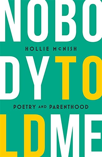 Nobody Told Me by Hollie McNish book cover