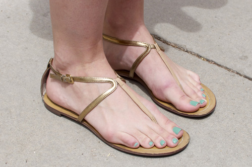 metallic sandals at unlv