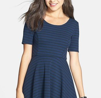 Nordstrom striped skater dress