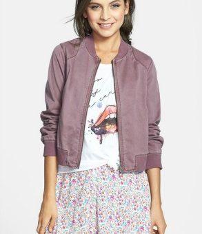 Nordstrom twill bomber jacket