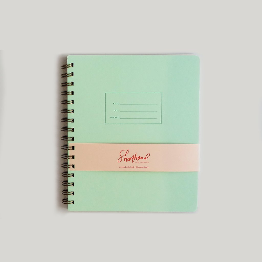 Green notebook for college