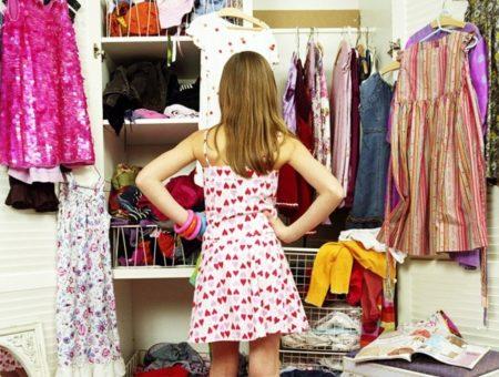 Girl in her closet