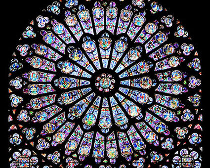 Notre dame cathedral south rose window