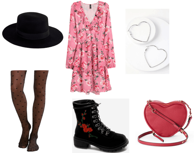 Numbuh 3 and Serena Valentine's Day outfit with pink floral dress