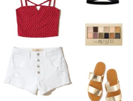 Trendy outfit for the 4th of July
