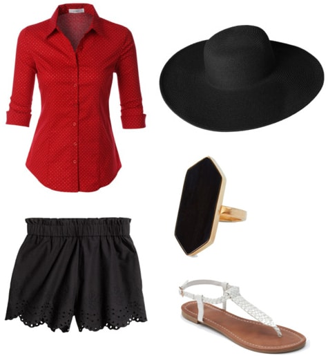 Outfit inspired by Red from Orange is the New Black