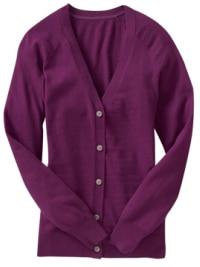 Old Navy Purple Boyfriend Cardigan