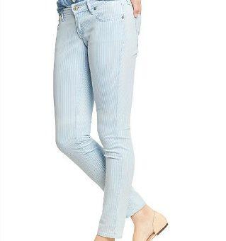 Old navy railroad stripe skinny jeans
