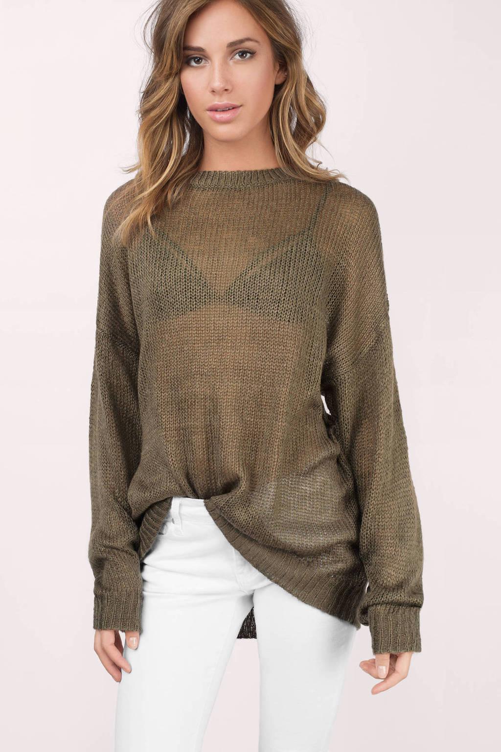 Tobi See-Through Sweater