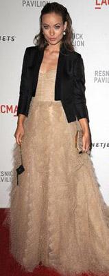 Olivia Wilde wearing a tuxedo jacket