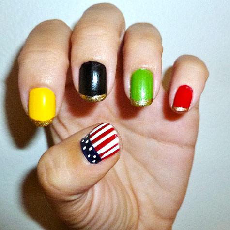 Olympics nail art