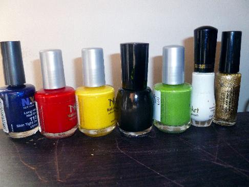 Olympic nail art: Polish colors