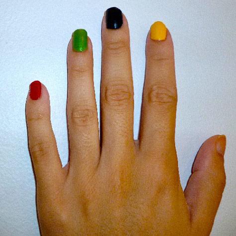Olympic nail art: Base colors