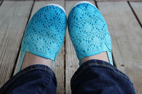 Ombre shoes finished view