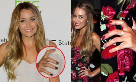 Lauren Conrad with Ombre Nails