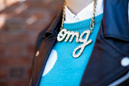 OMG statement necklace
