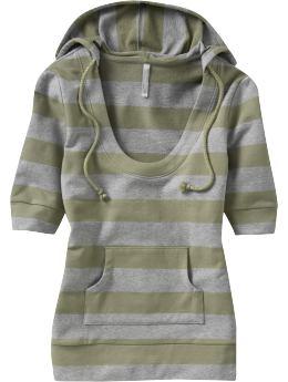 Women: Women's Puff-Sleeve Pullover Hoodies - Peat Moss/grey Heather