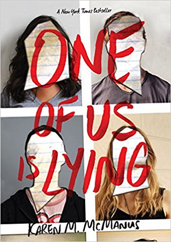 One of Us is Lying by Karen McManus book cover