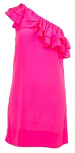 Hot pink one shoulder asymmetrical dress from TopShop