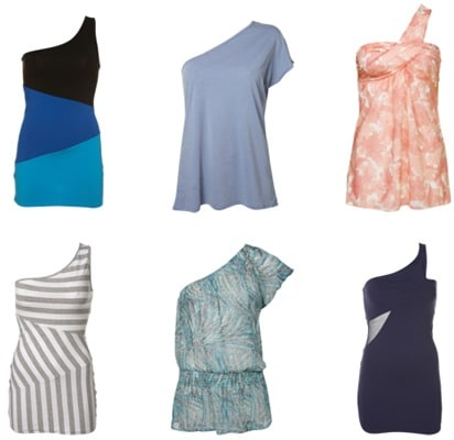 One-shoulder tops and one-shoulder dresses