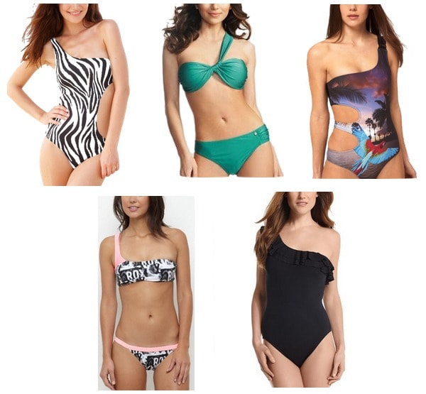 one-shouldered swimsuits summer 2012