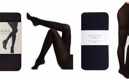 Opaque black tights