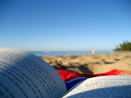 open-book-on-beach