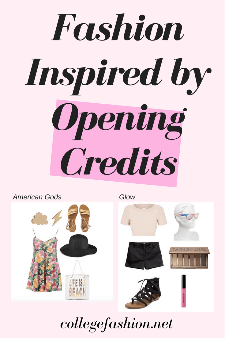 Opening credits fashion: Outfits inspired by the opening sequences from the TV shows Glow, American Gods, and Anne with an E