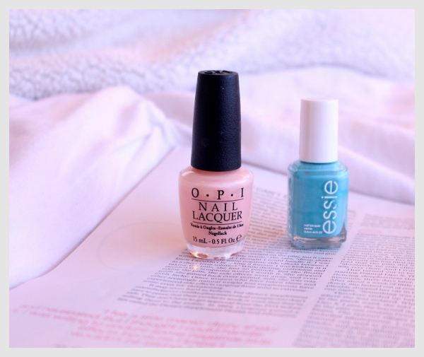 OPI-Hopelessly-in-Love-Pink-Nail-Polish-Essie-Teal-In-the-Cabana-Nail-Polish