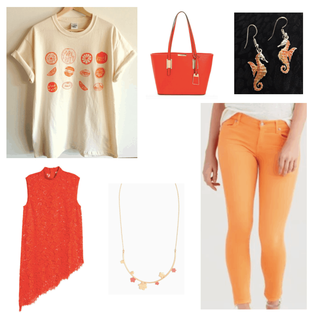 All Orange Clothing and Accessories