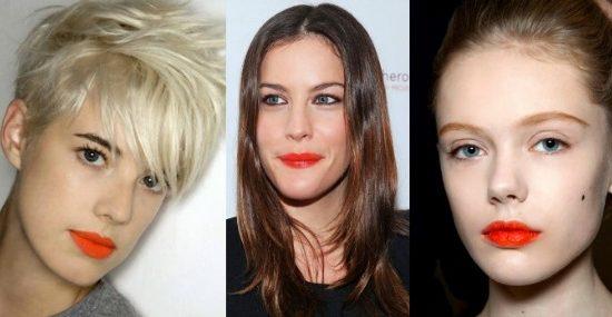Orange lips trend