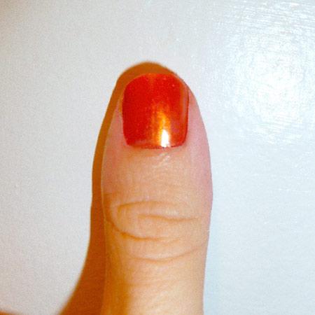 orange nail