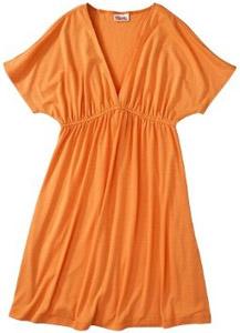 Target Mossimo Kimono Sleeve Dress - Orange