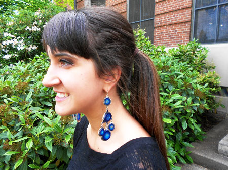 College street style trend at Oregon State University: Statement earrings