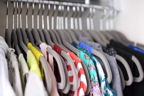 How to organize your closet - finished product