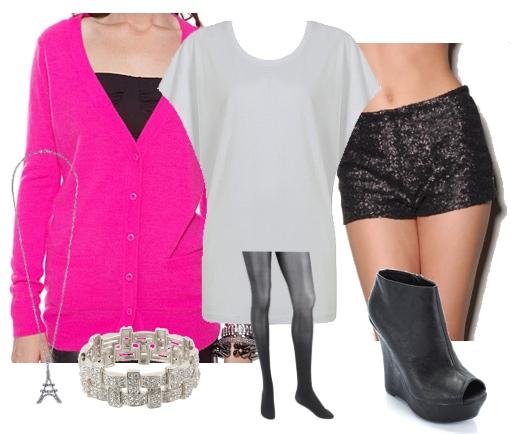 Outfits Under $100: NYE - Hot Pink & Hot Pants