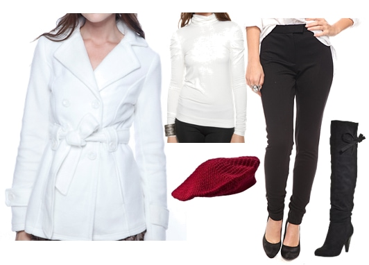 Outfits Under $100: Winter White Outerwear