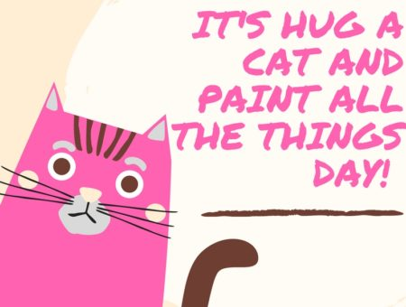 cat cafe paint things