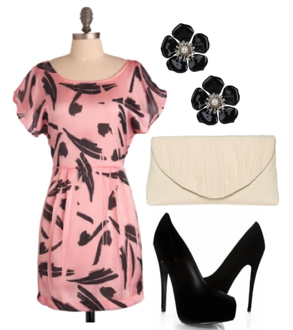 Outfits Under $100 - Edgy Retro for a Wedding
