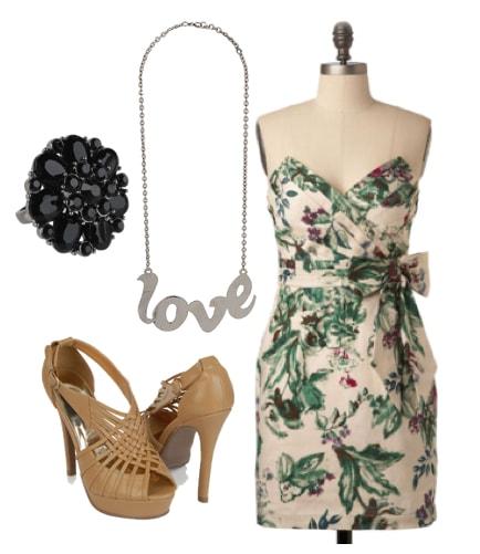 Outfits Under $100: Flirty Floral Wedding Wear
