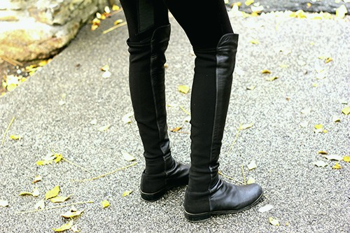 Over the knee boots college trend