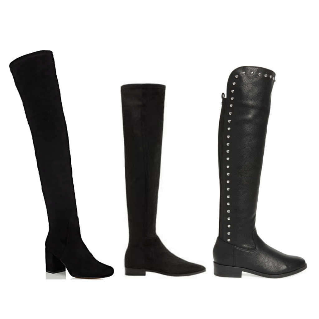 College Fashion Winter Capsule Wardrobe Over-the-knee Boots - Barney's, Mango, Nordstrom